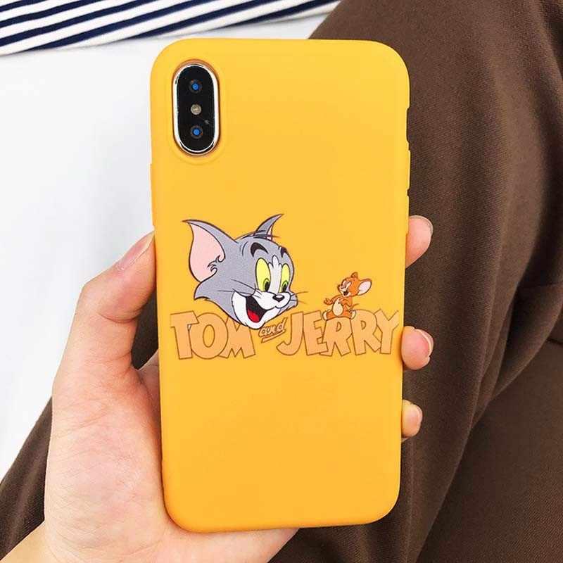 דמות מצוירת חמוד כיסוי מקרה עבור iphone 6 7 8 X XS בתוספת רך פגז מקרה טלפון חמוד מקרה עבור iphone 6 קריקטורה הסיליקון מקרה