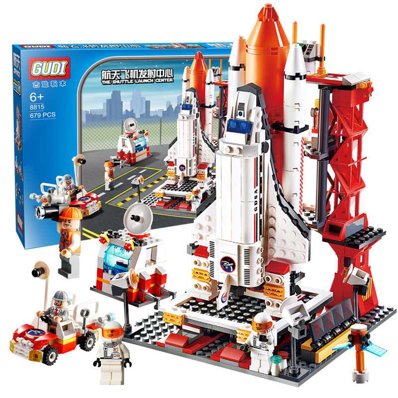 City Spaceport Space The Shuttle Launch Center 679Pcs Bricks Building Block Educational Toys For Children Legoinglys 8815
