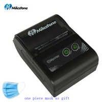 Milestone Bluetooth Thermal Printer receipt bill 58MM Mini USB Portable Wireless ticket Android IOS Pocket Printer P10