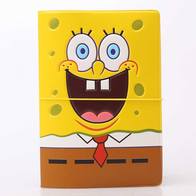 Travel Accessories Cartoon Spongebob Passport Holder PVC 3D Print Leather Travel Passport Cover Case Card ID Holders 14cm*9.6cm