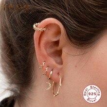 ROXI – boucles d'oreilles rondes en argent Sterling 925 pour femmes, bijoux à géométrie classique, cadeau