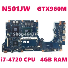 все цены на N501JW i7-4720HQ CPU 4GB RAM GTX960M Mainboard For Asus G501J UX501JW FX60J N501JW UX501J N501J Laptop Motherboard 100% Tested онлайн