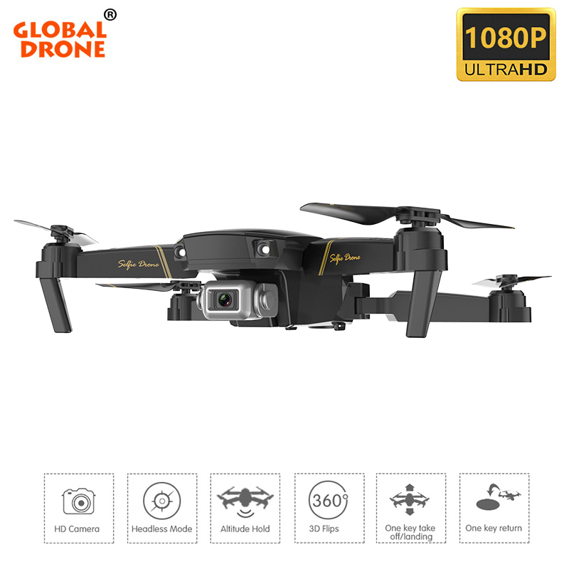 Global Drone EXA Profissional Quadrocopter with HD 1080P Camera RC Helicopter FPV Drones Optical Flow Pocket