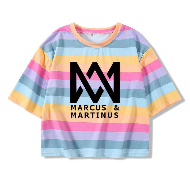 MARCUS & MARTINUS CROP TOP T-SHIRT