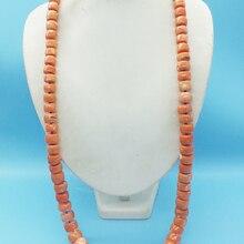Месте! Классическое натуральное оранжевое коралловое ожерелье. Африка, Нигерия, мужчины, свадебные ювелирные изделия ожерелье