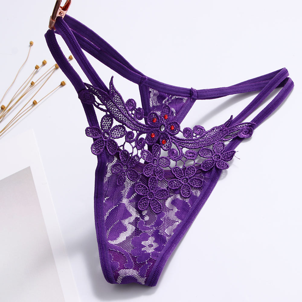 1 Pcs Ladies Clothing Accessories Sexy Lace Briefs Lingerie V-string G-string Thongs Panties Underwear
