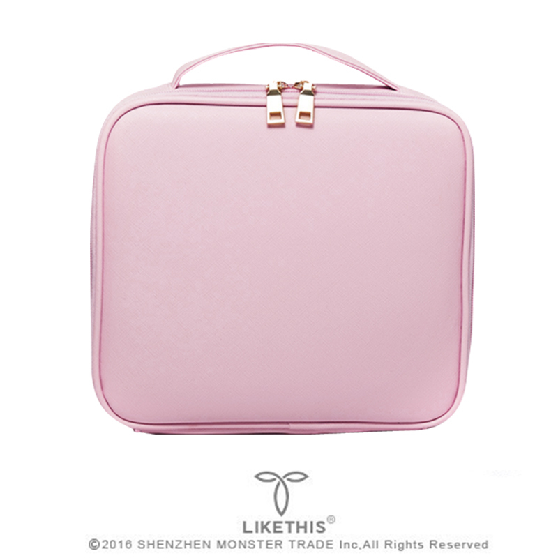 LIKETHIS New Cosmetic Bag Organizer Women Travel Make Up Cases Big Capacity Cosmetics Suitcases For Makeup 190717
