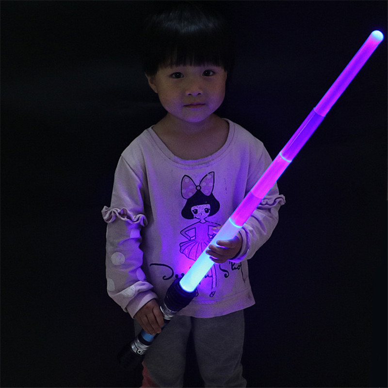 Laser Sword Lightsaber Cosplay Prop Saber Light Up LED Sound Children Outdoors Luminous Lightsaber Toys Boy Flashing Gift