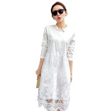 White sides dress 2019 new arrival women summer dress long sleeves nice casual dresses dresses feminine dresses free shipping(China)