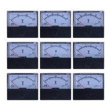Voltmètre à panneau analogique cc 3V 5V 10V 15V 20V 30V 50V 100V 150V 300V 500V V