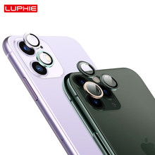 luphie luxury Camera Lens Protector for iPhone 11 Pro Max Tempered Glass+Metal Rear Lens Screen Protective Ring for iPhone11 pro(China)