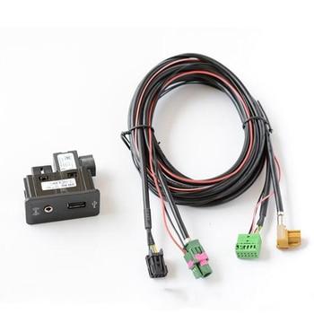 Car USB AUX in Plug Input Socket Adapter for vw passat Transporter Sharan  Caddy Touran