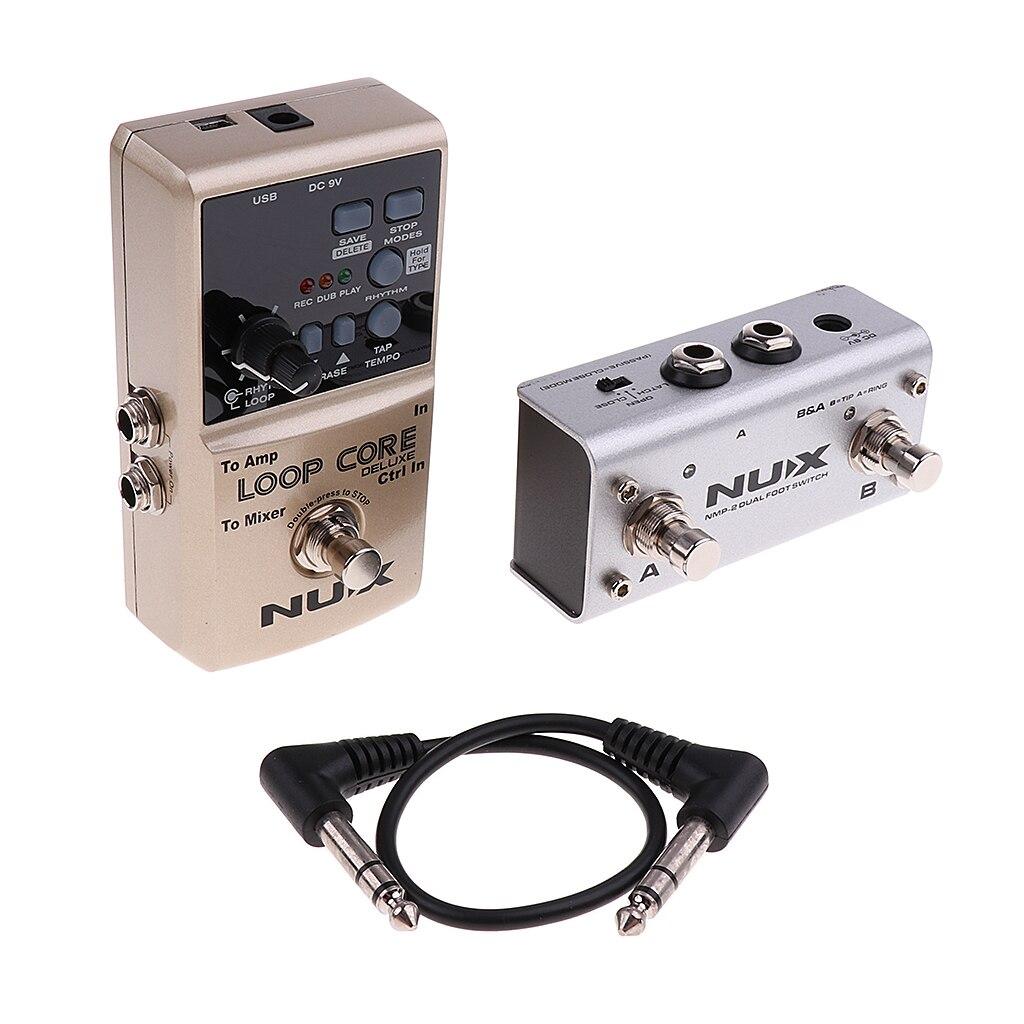 NUX Loop Core Deluxe effets processeur Mini guitare effet pédale véritable contournement pour pièces de guitare électrique