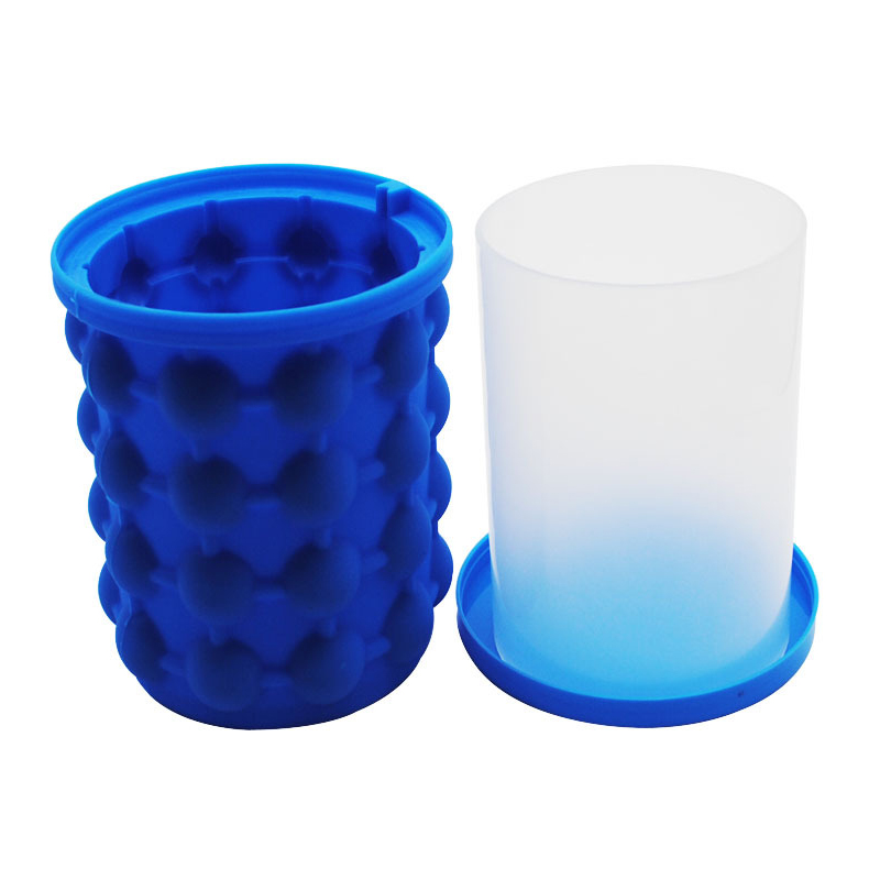 Amazon Hot Seller Cheap Blue Silicone Wine Ice Bucket With Lid image