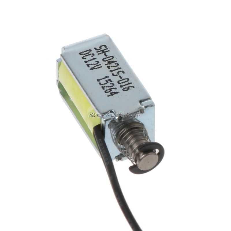 Micro Mini válvula de solenoide, electroimán con marco abierto DC 12V, tipo de empuje-tracción, triangulación de envíos