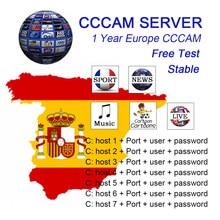 Europa ccam 8 linhas satélite DVB-S2 para gtmedia v8 nova v7s v9 freesat oscam servidor teste 48h europa ccam 8 linhas satélite dvb