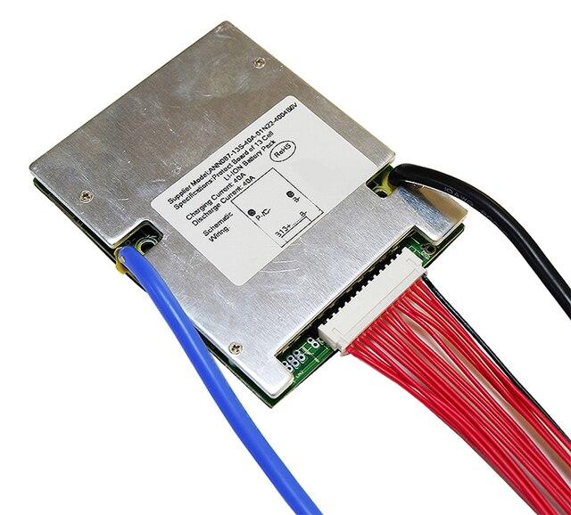 48 فولت BMS 13S BMS تستخدم ل 48 فولت 10ah 20 30ah 40ah 50ah بطارية ليثيوم أيون حزمة 3.7 فولت خلية 13s PCM / PCB / BMS مع وظيفة التوازن