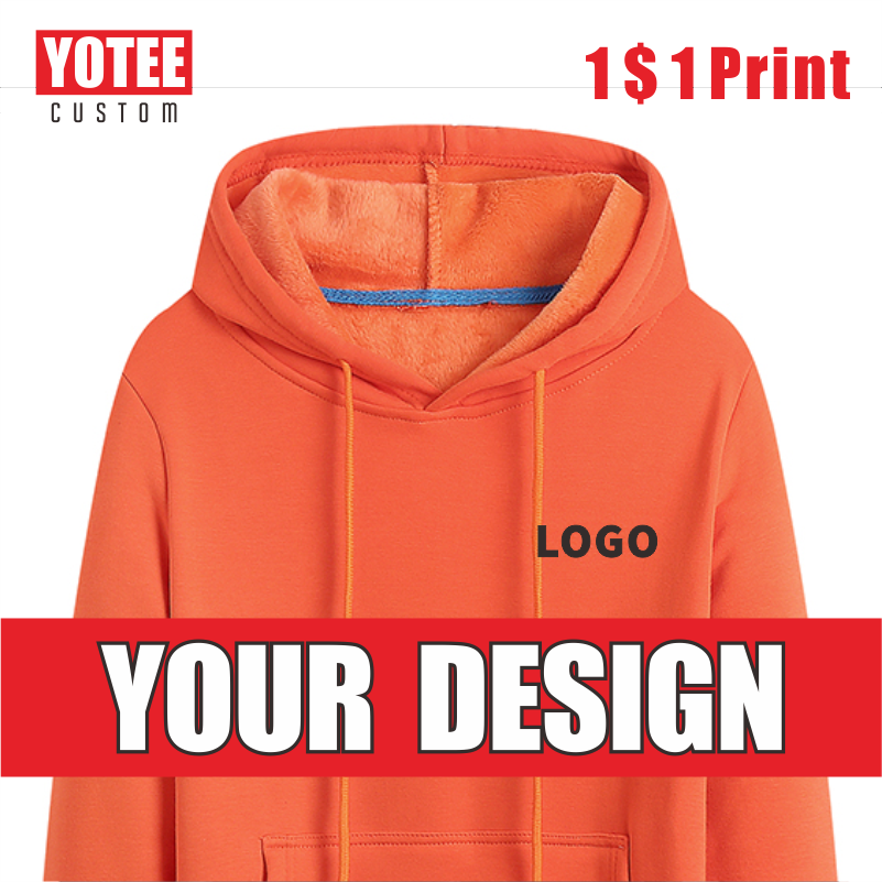 YOTEE Autumn And Winter Thick Trend Pullover LOGO Custom Sports Men And Women Casual Hoodies