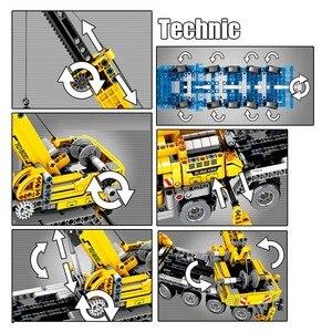 Image 3 - SEMBO Fit Technic мобильный кран создатель экспертных идей набор кирпичей 665 шт. городской инженер Краб строительные блоки игрушки Детский подарок