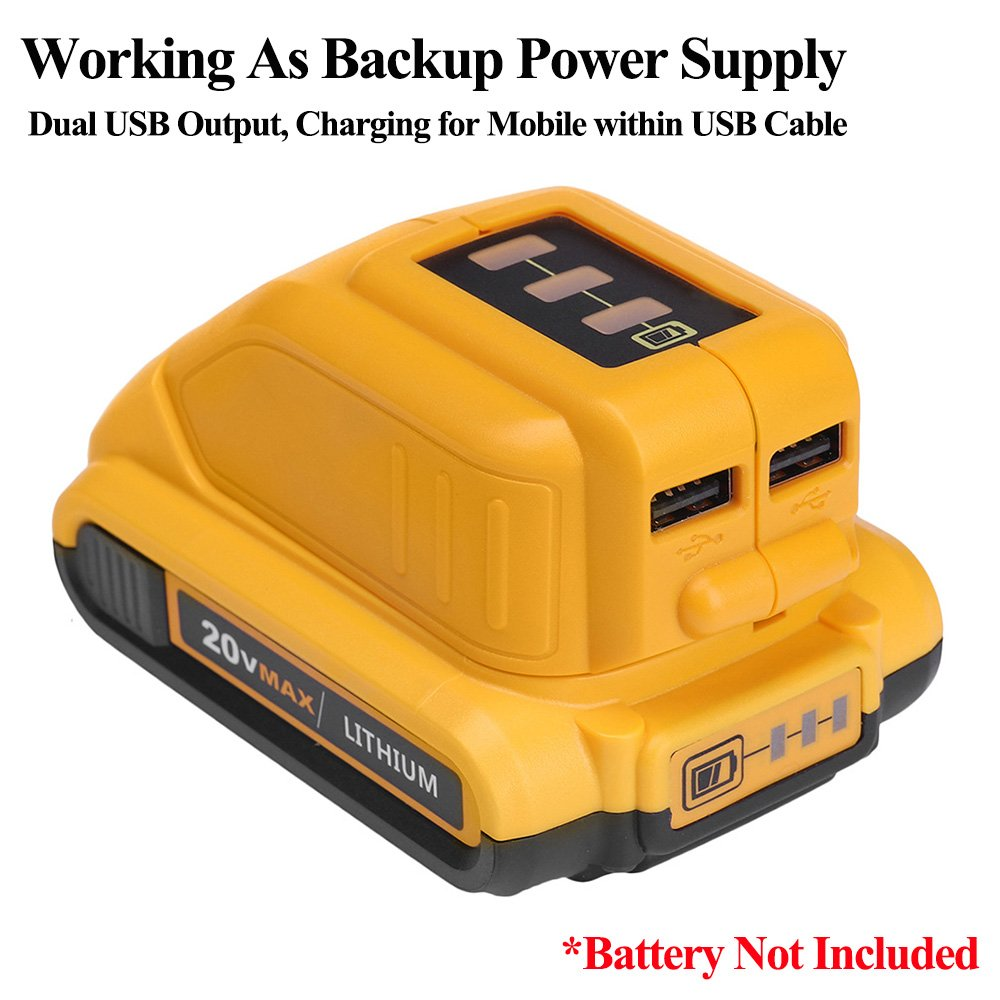 10.8V 14.4V 18V USB Charger for Dewalt <font><b>DCB090</b></font> Converters for Lithium Battery and Dewalt Heated Jacket Power Source Charger image
