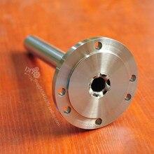 Фланцевый шпиндель токарного станка k11, k12, k72 для домашнего токарного станка 80 патронов 100 патрон 16 мм-19 мм сквозное отверстие сердечник вала ...