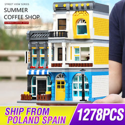 Street Building Toys The Summer Leisure Cafe Shop Set Compatible with 31097 Building Blocks Bricks Kids Christmas Gifts