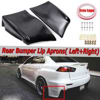 2x Car Rear Bumper Lip Diffuser Splitter Spoiler Guard Protector Aprons For Mitsubishi Lancer For Evolution X EVO 10 2008 2015