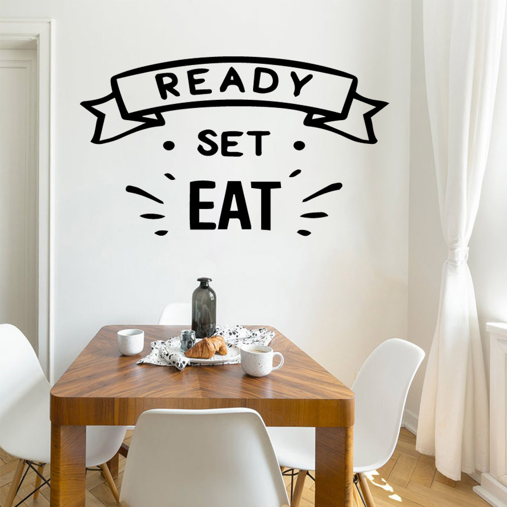 Pretty Eat Wall Art Decal Decoration