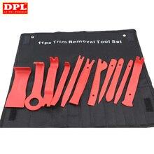 Kit de extracción de tapicería de coche, herramientas de corte de nailon resistente, moldura de puerta de vehículo, Panel de salpicadero, remache, hebilla, Alicates de sujeción, removedor