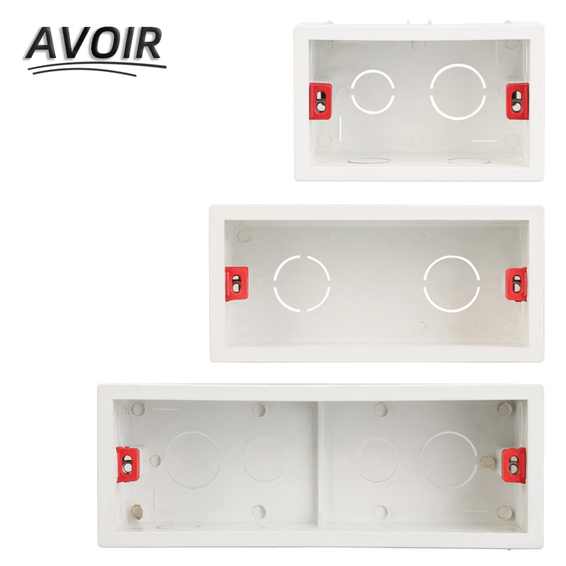 Avoir 118 Type Mounting Box Internal Cassette Junction Wiring Case Wall Light Switch Socket US AU Standard Back Box 154 197