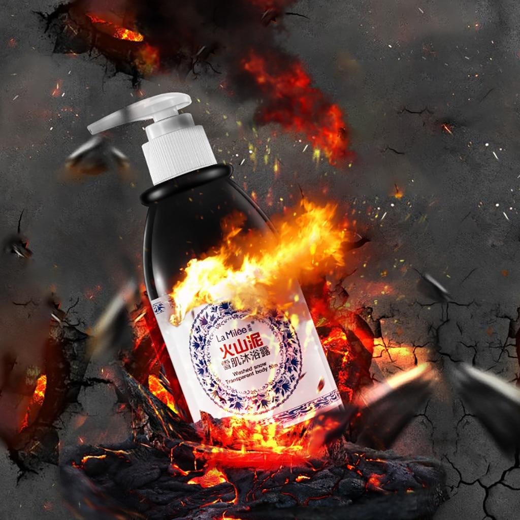 Analytical Volcanic Mud Body Wash Shower Gel 250ml Fast Whitening Deep Clean Skin Exfoliating Moisturizing Body Bathing Cream Hot Body Care Fashionable Patterns