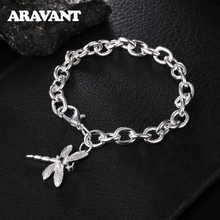 Women Bracelets Silver Dragonfly Bracelet For Women Romantic Bracelets Silver 925 Jewelry women bracelets silver dragonfly bracelet for women romantic bracelets silver 925 jewelry