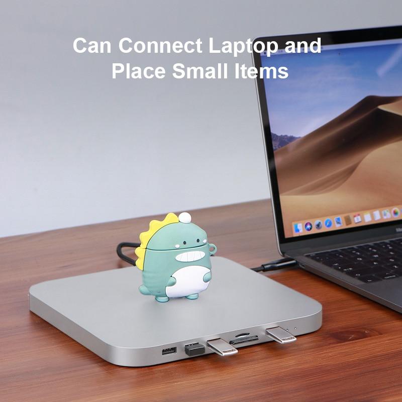 Hagibis USB-C Hub for Mac mini M1 with SATA Hard Drive Enclosure Type-C SSD Case docking station sliver for 2020 New Mac mini-3