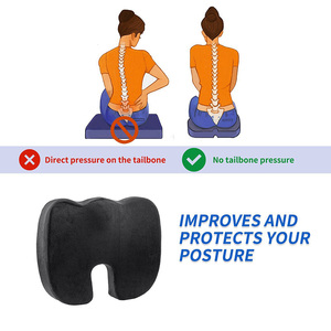 Image 4 - AUTOYOUTH Seat Cushion Pad Black Coccyx Orthopedic Seat Cushion Lumbar Support Comfort Memory Foam Pad For Chair Car Office Home