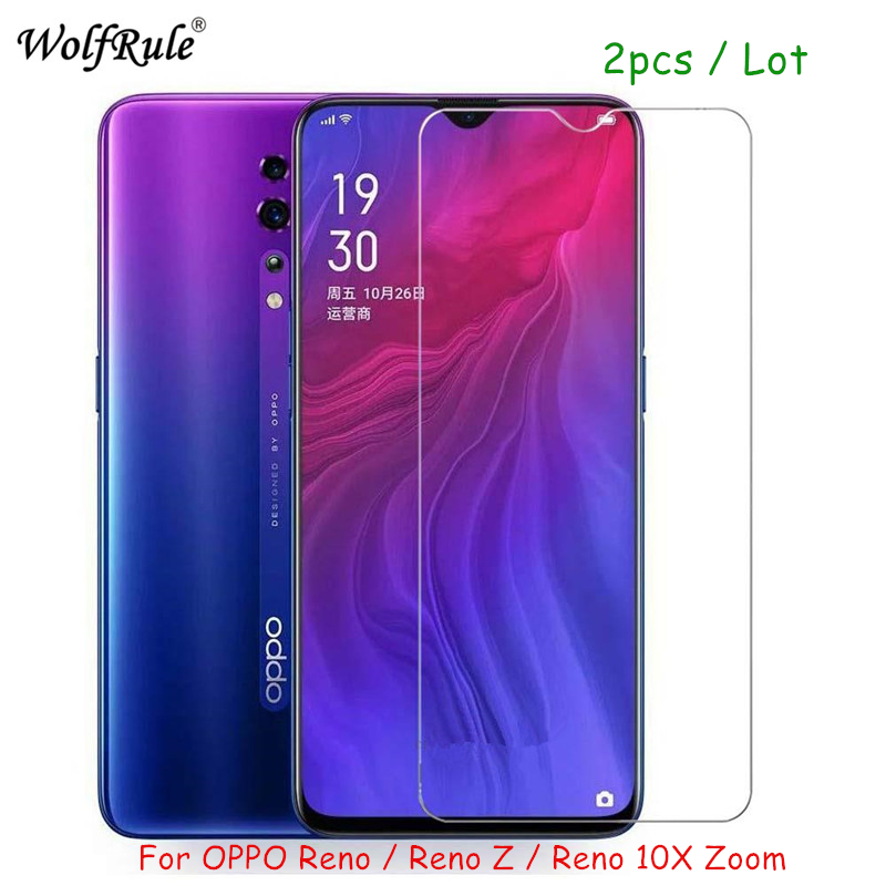 2PCS Screen Protector Glass For OPPO RENO Z Tempered Glass For OPPO RENO Z HD Protective Ultra-thin Phone Film RENO Z Glass