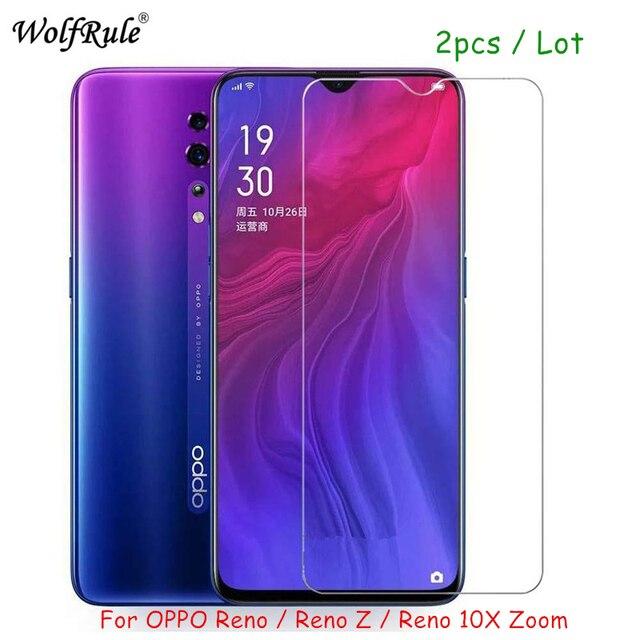 2PCS screen protector Glass For OPPO RENO Z Tempered Glass For OPPO RENO Z HD Protective Ultra thin Phone film RENO Z Glass