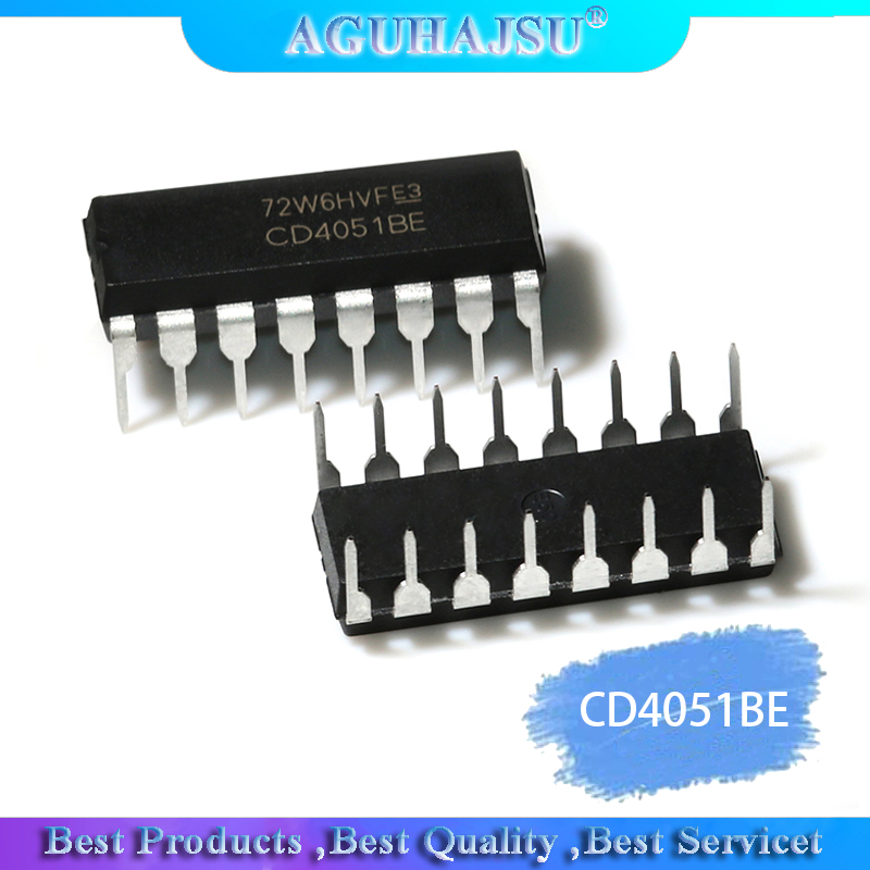 10PCS CD4051BE DIP16 CD4051 DIP 4051BE DIP-16 New And Original IC