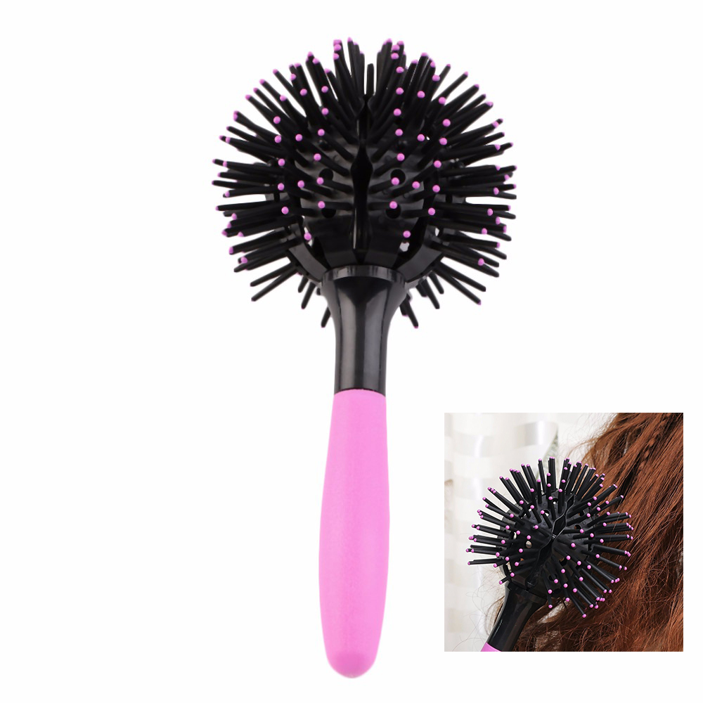 3D Round Hair Brushes Comb Salon make up 360 degree Ball Styling Tools Magic Detangling Hairbrush Heat Resistant Hair Comb Hot