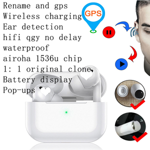 Airpodering Pro Clone 3 TWS for Apple Airoha 1536u Chip Aire Pods 1:1 Earphone I90000 I900000 I 90000 500 TWS Pro(China)