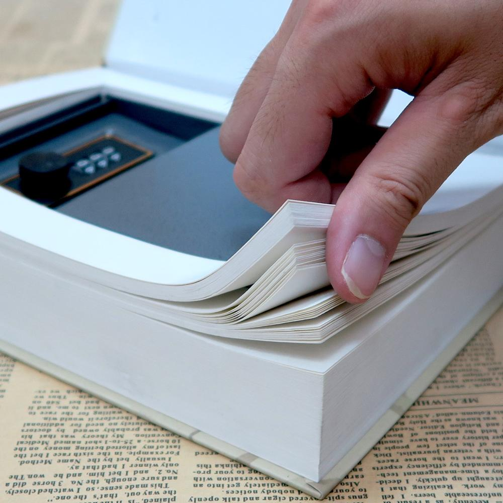 Multiple Simulation Books Mini Safe Hidden Security Lock Cash Coin Storage Jewelry Key Cabinet Children's Gift Money Box