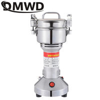 DMWD Chinese herbal medicine Grinding Machine stainless steel mill grain ultrafine Electric Herb Nuts Grinder 150g Spice Crusher