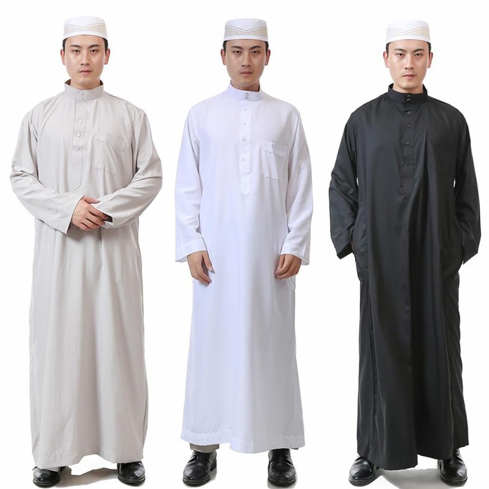 Arabic Abaya Islamic Clothing Men Jubba Thobe Robes Muslim Dress Saudi Arabia Galabia Ropa Hombre Qamis Homme Cosplay Costumes