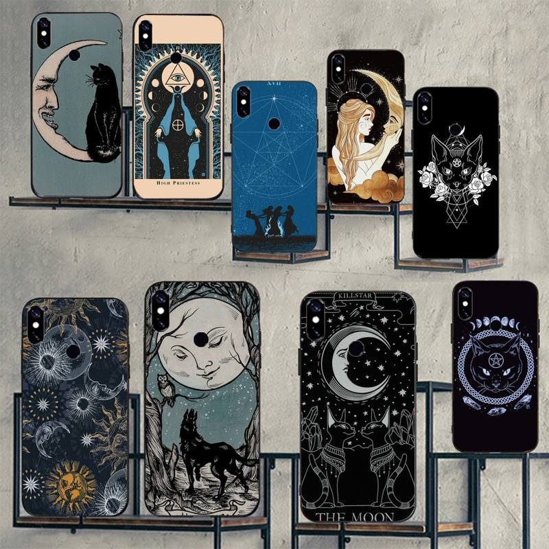 Witches moon Tarot Mystery totem Phone Case For Xiaomi Redmi note 7 8 9 t k30 max3 9 s 10 pro lite Luxury brand shell