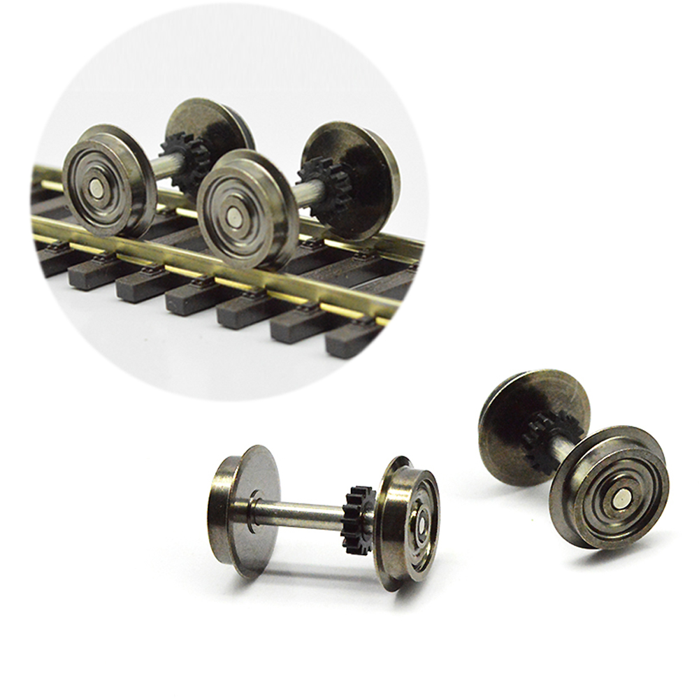 Metal Wheels For Model Train 1:87 HO Scale Wheels Railway Modeling Train Wheel Accessories Toy Landscape, Diorama Production