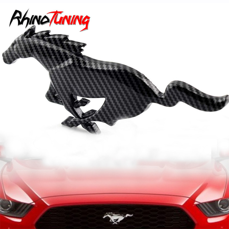 For Mustang Day Metal Sticker Running Horse Emblem For Mustang ECO Boost GT Auto Side Wing Badge