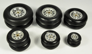 1 Pair Of High Quality RC Parts Rubber Wheel Tire 1.75