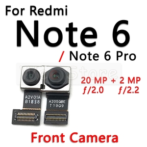 Image 4 - קטן מול & עיקרי גדול חזור אחורי מצלמה להגמיש כבלים עבור Xiaomi Redmi הערה 6 6A 7 7A פרו בתוספת מצלמה להגמיש