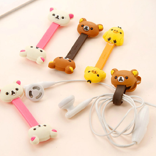 Korean-style Cartoon Cute Easily Bear Cable Winder/Hub Earphones Mobile Phone Line Cable Winder