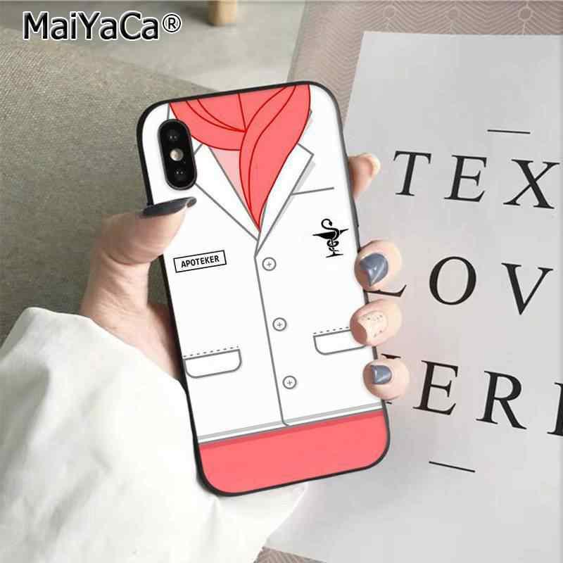MaiYaCa мультфильм доктор полицейская форма DIY Окрашенные красивый чехол для телефона Apple iphone 11 pro 8 7 66S Plus X XS MAX 5s SE XR