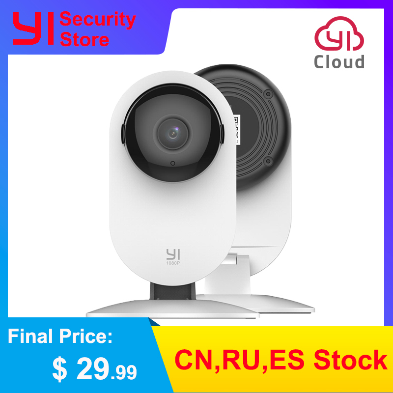 YI Home Camera 1080p Wireless IP Wifi Security Surveillance System Baby Monitor Night Vision Cloud International Version (US/EU)